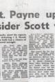 Captain Payne Upset Scott wins